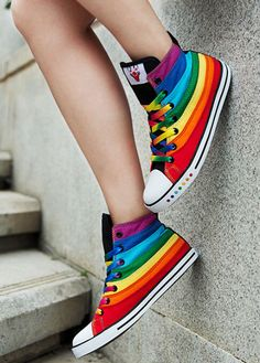 Free shipping brand new Hot Girl Stylish Multi Color Womens Rainbow High Top Sneaker Boot Shoe Plimsoll-in Women's Fashion Sneakers from Shoes on Aliexpress.com | Alibaba Group