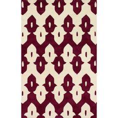 nuLOOM Moderna Wine Ikat Trellis Area Rug Rug Size: 5' x 8'