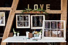 Rustic Mint + Gold Barn Wedding // Olivia + Greg -- Seating Chart