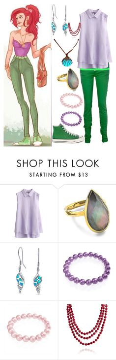 """""""Ariel"""" by onceharrypotterdisneyfan ❤ liked on Polyvore featuring MAKO, Ippolita, Bling Jewelry, Disney, Converse and Dsquared2"""