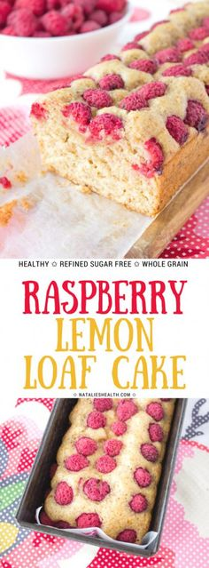 Moist and delicious with bursts of fruity flavor this Raspberry Lemon Loaf Cake is the perfect addition to your mornings. This lemon cake is made with all HEALTHY ingredients and moderate in calories. REFINED SUGAR-FREE, packed with FRESH raspberries, it's perfect Summer dessert. #healthy #healthyrecipes #summer #healthylifestyle #healthyeating #healthyliving #weightlossrecipes #recipeoftheday #recipe | NATALIESHEALTH.com