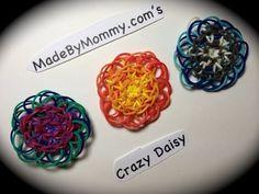 Made by Mommy's CRAZY DAISY CHARM for the Rainbow Loom. - YouTube