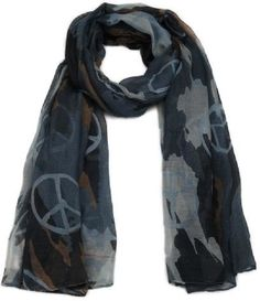 This trendy blue and grey camouflage scarf with a peace sign is a great clothing accessory to update your wardrobe and make a statement with style & beauty. Long Scarf, Camo Print, Blue Grey, Trendy Fashion, Fashion Accessories, Stylish, Camouflage, Clothes, Scarves