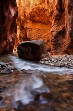 Zion National Park - Narrows - Lara's Corner.  Greg Jacobs