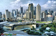 Manila, Phillippines (where I am living with the rest of the busy people and pollution, lol..but still good because I am used to it)
