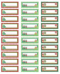 Free Printable Christmas Labels Templates | Christmas Address ...