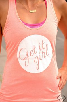 My favorite workout tanks featured on She Saved Blog.