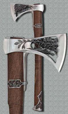 The Viking Minuteman More, halfborn gunderson aesthetics Cool Knives, Knives And Swords, Vikings, Lame Damas, Viking Axe, Viking Sword, Beil, Battle Axe, Medieval Weapons