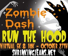 Zombie Dash Virtual 5K/10K/Kids' Fun Run - special discount code for today - TOUCHDOWN -enjoy! #race #running #c25k #football