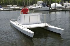 Catamaran center console boat / outboard 24′ Launch Wintech Racing