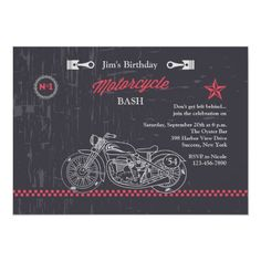 Chalkboard Motorcycle Invitation   bikers, quotes about cars, harley davidson quotes couples #bikerquote #bikershit #bikersofindia, 4th of july party Biker Birthday, Harley Davidson Quotes, Biker Shirts, Nicole S, Biker Quotes, 4th Of July Party, White Envelopes, Birthday Invitations, Your Cards