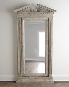 H6P32 Hooker Furniture Cavalier Storage Floor Mirror