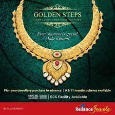 Make the most of your incredible moments by making it extra special for your loved ones & yourself !!!! Now at Reliance Jewels we offer you ‪#‎GOLDENSTEPS‬ - Jewellery Purchase Scheme. A perfect solution for planning your precious jewellery purchase in advance.  To Know more, Visit: http://www.reliancejewels.com/jewelry_purchaseschemes.html  #Reliance #RelianceJewels #Jewels #Jewellery #BeTheMoment #Moments #Life  #LifeIsNow #February2016