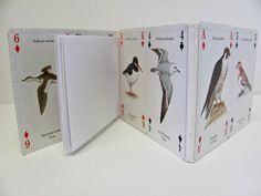 British Birds notebook ~ Journal made from gorgeous playing cards ~ Artist's sketchbook ~ Birdwatcher gift ~ Nature lover Xmas present