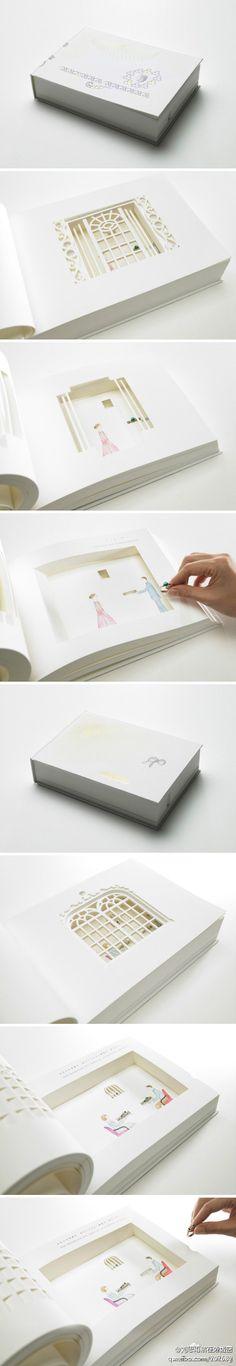 une histoire en papier, que des découpes, magnifique !!