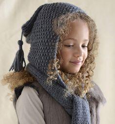 Modèle écharpe , capuche 2 en 1 , Modèles tricot enfant , Phildar