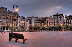 Pamplona, Spain One day I sat in a small cafe on this square and had lunch by myself.
