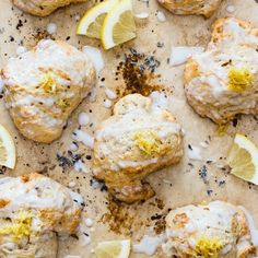 lavender and lemon scones