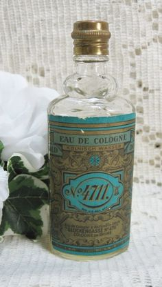 German No 4711 Cologne which I believe was my perfume!