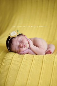 Large Felt Flower Headband for baby Mellow Yellow & by StellinaB, $8.50
