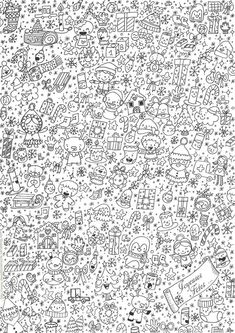 Anti-stress (Relaxation) – Printable coloring pages Christmas Coloring Pages, Coloring Book Pages, Printable Coloring Pages, Coloring Sheets, Christmas Colors, Christmas Art, Christmas Doodles, Christmas Drawing, Christmas Pictures