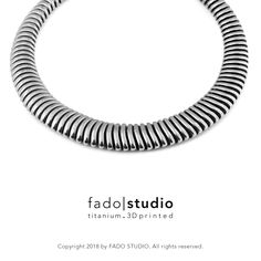 3D printed titanium jewellery by Fado Studio | Copyright 2018 #3Dprinted #titanium #jewellery #jewelry #fadostudio #fado|studio #3dprinted.titanium #neckless #futorganic #modular #unique