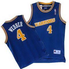 Golden State Warriors 4# Chris Webber blue throwback jerseys $24.0
