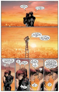Peter and MJ talk marriage atop the Empire State Building in Sensational Spider-Man Annual #1