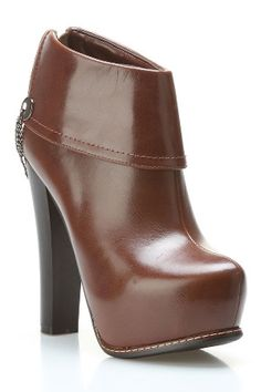 Summerio Paola Booties in Brown