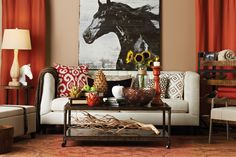 Insane This New Country styled living room is laid-back but beautifully rustic and elegant. Find out what type of home decor style you have by taking our Stylescope quiz . Home Goods Decor, Home Decor Furniture, Home Furnishings, Unique Home Decor, Home Decor Styles, Living Room Inspiration, Country Decor, Country Style, Country Living