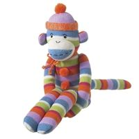 Meet Bailey, part of the Monkeez Makes a Difference program. Isn't he an adorable sock monkey? He also serves as a tool to talk with children about philanthropy and helping others. The code on his tag unlocks an online world of games, and 10 percent of his cost will be donated to one of three charities that your child chooses! $29.99.