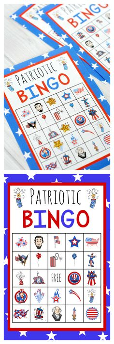 Free Printable America Bingo-Perfect for the 4th of July