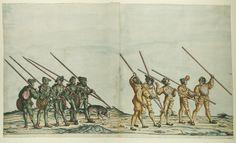Artist: various, Title: »Triumphzug Kaiser Maximilians« Blatt 74-75, Date: 1526, Note: colouring done in 1765 by Josef Hoeger