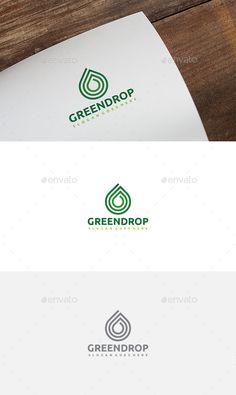 Green Drop Logo: Nature Green Logo Design Template by Logo Design Template, Logo Templates, Business Brochure, Business Card Logo, Best Logo Design, Graphic Design, Drop Logo, Green Logo, Text Fonts
