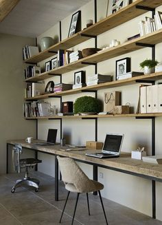 I love the wood - but not so practical, really (if it's going to look nice, you can't crowd the shelves with things)