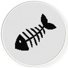 FREE for June 14th 201 Only - Fishbone Cross Stitch Pattern