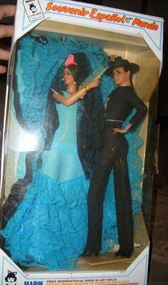 "Marin Chiclana Spanish Flamenco Dancers Pair Couple Dolls 12"" Original Box | eBay"