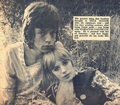 Mick Jagger & Marianne Faithfull