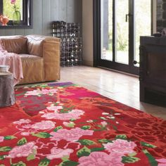 Kodari Garland 33300 Pink Red Hand Knotted Wool Rugs by Brink & Campman buy online from the rug seller uk Pink Room, Red Rugs, Weaving Techniques, Rugs Online, Room Set, Garland, Design Inspiration, Pure Products, Traditional