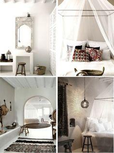 natural modern interiors: Eclectic Natural Style :: San Giorgio Hotel, Mykonos, Greece
