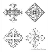 Church Patterns & Designs for Hand Embroidery, Arts & Crafts- neat source for abstract patterns, never mind the church part