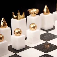 Chess Set by L Objet Amusespot Diy Chess Set, Modern Chess Set, Glass Chess Set, Chess Set Unique, Chess Bars, Luxury Chess Sets, Chess Pieces, Board Games, Decoration
