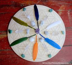 Spirit Goddess Feather Crystal Grid  19 Crystals by The7Directions