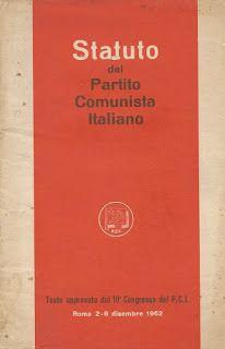 Museo online di Mattia: Statuto del Partito Comunista Italiano Museums, Rome
