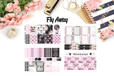 Foil Planner Sticker Kit 6 sheets Erin Condren Life Planner or Happy Planner Create 365 sizes available Boss Lady just peel and stick. Kiss cut
