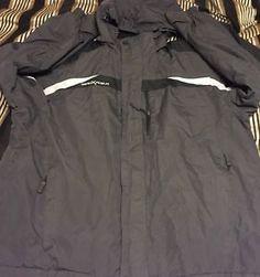 Mens Jacket 'Zero x Posur' Evolution Captured XL Ski Coat Black Grey MP3 Pocket | eBay