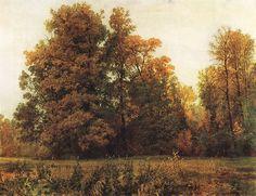 ivan shishkin paintings | Ivan Ivanovich Shishkin (1832 – 1898) Autumn. Oil on canvas, 1892 82 ...