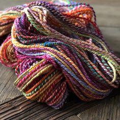 handspun yarn @woundupfiberarts
