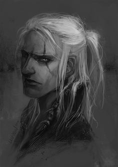 geralt of rivia★the witcher … lunch break portrait practice, less than an hour