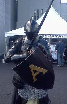 Black Knight guarding the merchandise. — at Army Football at West Point. 09.15.12